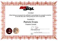 RSSQL-Certificate