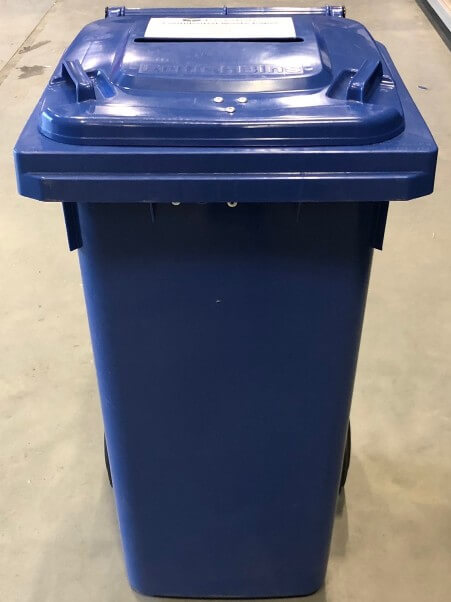 Blue Shredding Bin