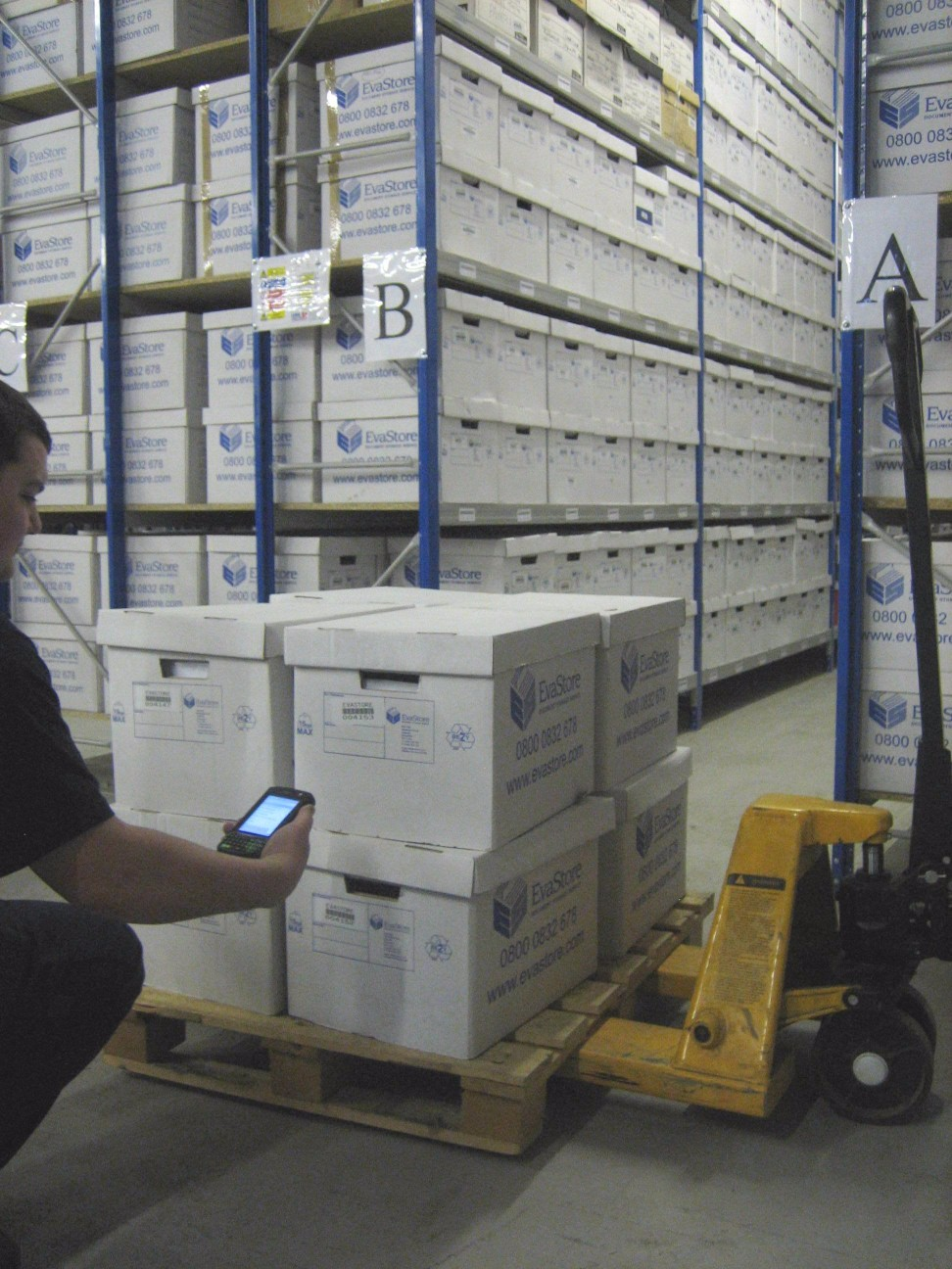 Bulk document collection inside storage facility