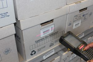 Document management hand scanner and barcode system
